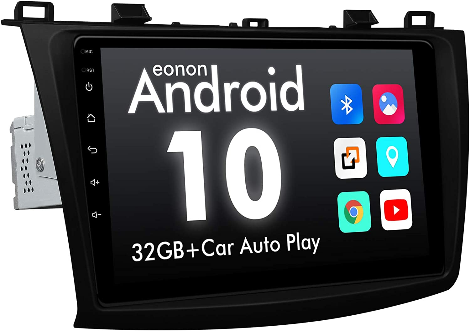 eonon GA2186 Android 10 7 LCD Touchscreen Indash Double Din Car Stereo 2GB Ram 32GB Rom Quad-Core GPS Navigation FM RDS USB Universal Head Unit Support WiFi Bluetooth 5.0 NO DVD