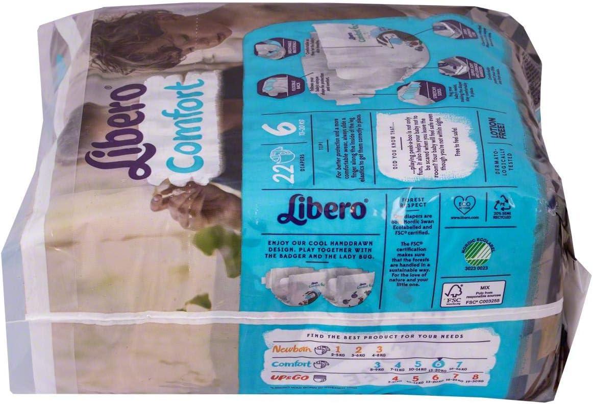 16-26 kg, 1 paquete de 21 Pa/ñales para beb/é Libero Comfort 7