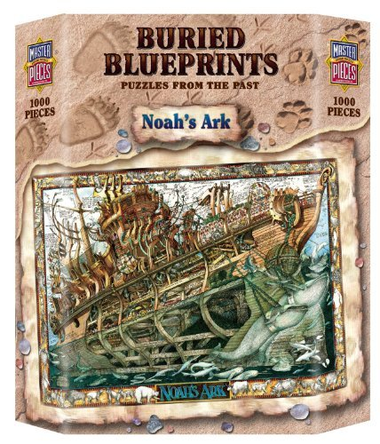 Jigsaw Noahs Ark Book - MasterPieces Buried Blueprints Noah's Ark Jigsaw Puzzle, 1000-Piece