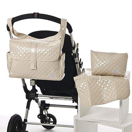 Bolso paseo BEIGE tipo maleta. Incluye: Bolso + Cambiador + Bolsito neceser IMPERMEABLE. Amplia oferta de modelos en: Koketes, Mobibe, Bebelovers