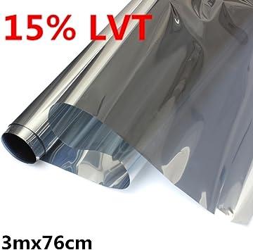 Dark Grey 15/% Car Auto Vehicles Window Tint 6m X76cm Protective Film Tinting SY