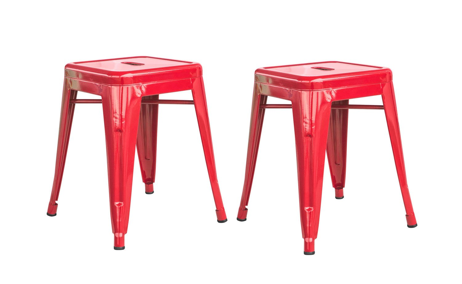 Buffalo Tools 18 in. Metal Bar Stool in Loft Red - Set of 2 by Buffalo Tools