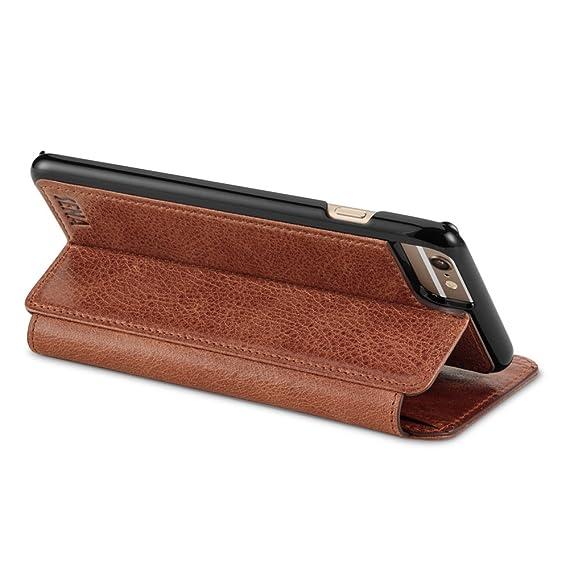 size 40 a0280 11093 Amazon.com: Sena Cases Genuine Leather Wallet Book Iphone 6 Plus ...