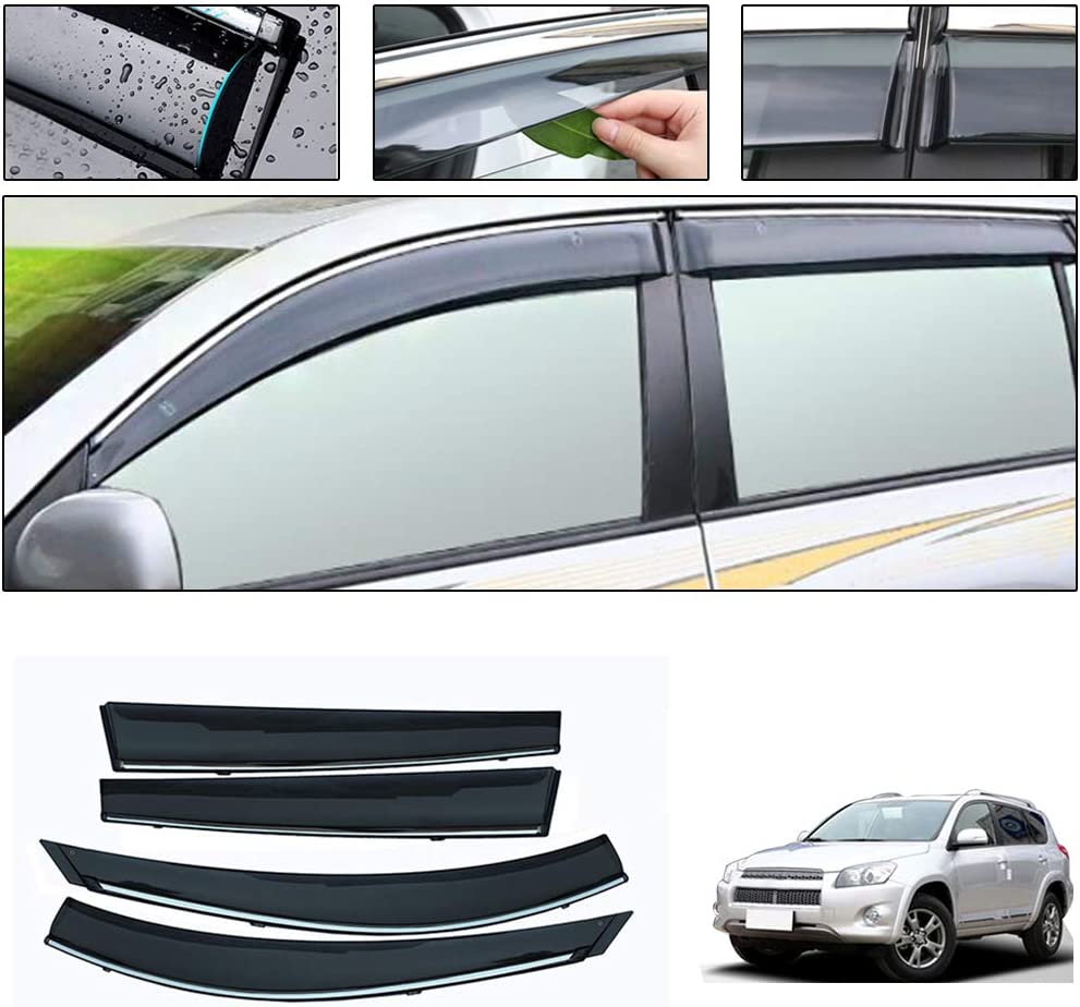 Wind Deflectors visors rain guards Toyota Highlander 2008-2013 4pcs In-Channel