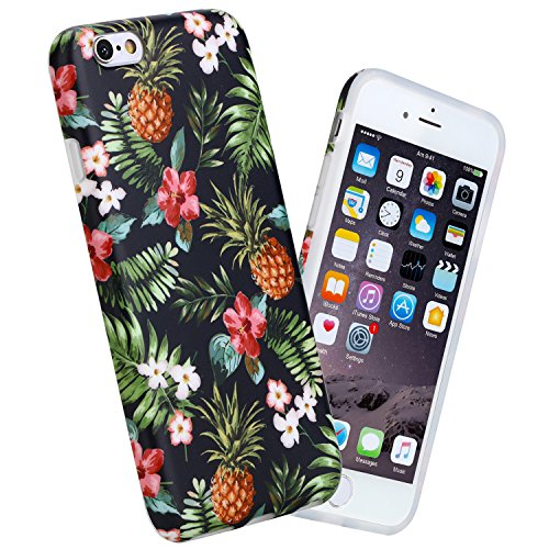 """iPhone 6 case, 4.7"""" Ultra Thin Anti-Scratch Shock Proof Anti-Finger Flexible Soft TPU Case For iPhone 6 & iPhone 6S Pineapples Design from GiiKa"""