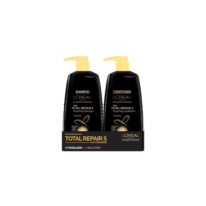 L'oreal Total Repair 5 Restoring Shampoo and Conditioner (33.8 fl. oz., 2 pk.)