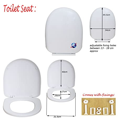 square toilet seat uk. Denny International  Luxury Soft Close D Shape Square Toilet Seat Top With Fixing Hinges Bathroom
