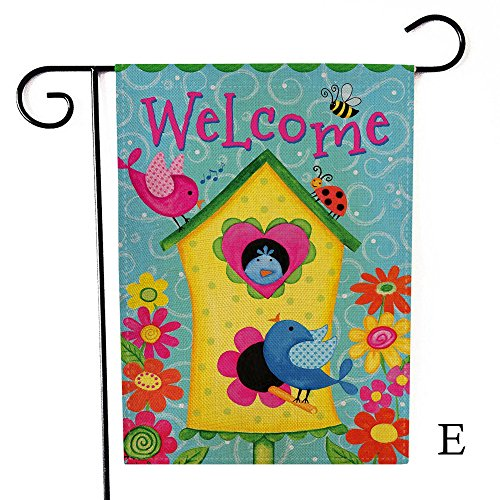 Yeefant Funny Animals Garden Flag Polyester Hanging Wall Tapestry Big Banner Clip Art Home Decor Accent for Bathroom Textile Print Shower Curtain,19x13 Inches