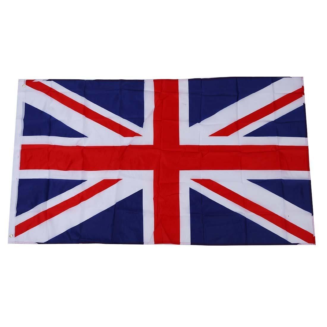 TOOGOO (R) Grande 90x150cm 5 X 3FT tifosi Olimpiadi National Sports bandiere con passacavo - bandiera britannica
