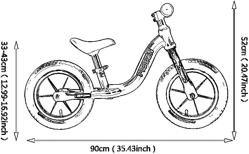 Balance bike Bicicletas sin Pedales Bicicleta De Equilibrio ...