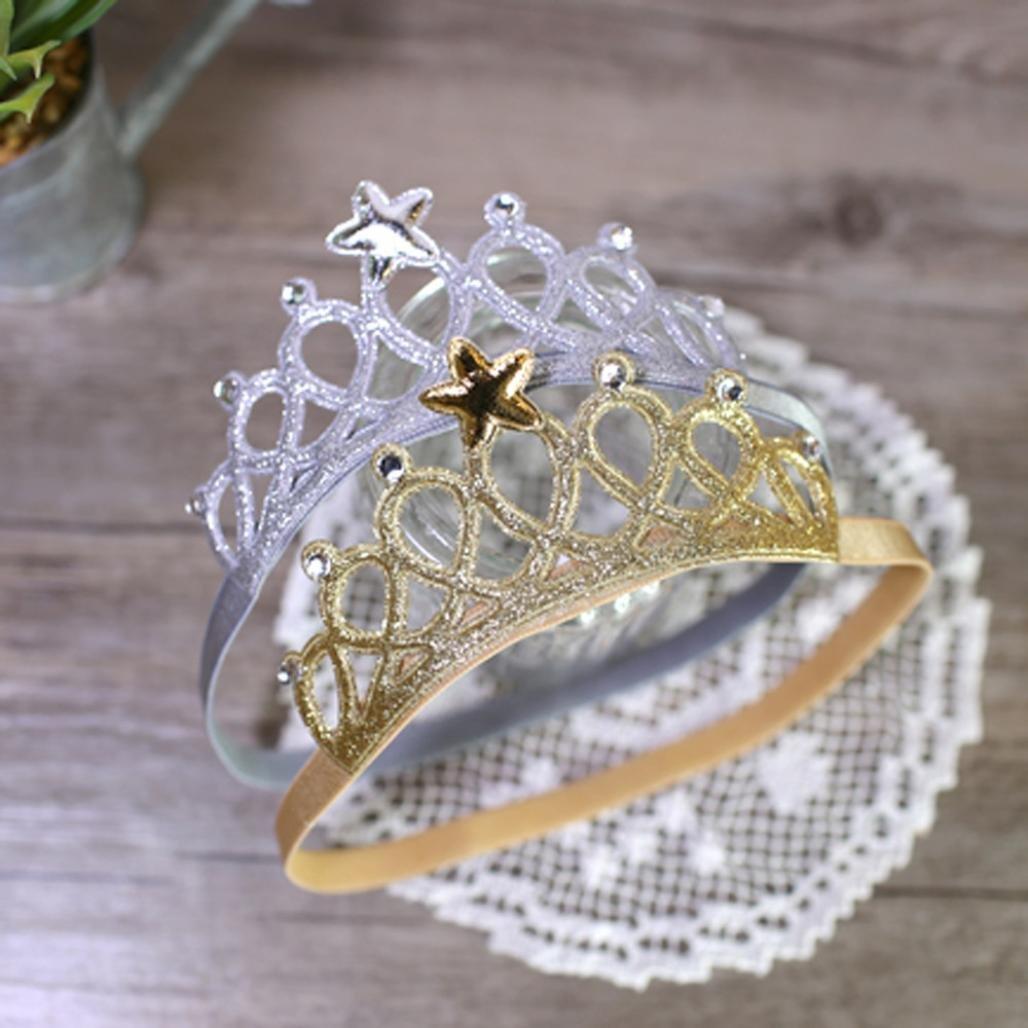 Bandeau B/éb/é Clode/® Crystal Crown Bande De Cheveux Princesse B/éb/é Couronne De Cristal Bandeau Pour Enfants Or
