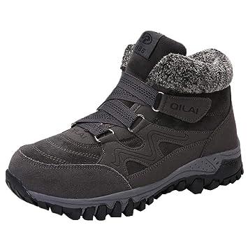Logobeing Botas de Seguridad Mujer Bajo Casual Plataforma Zapatillas Deportivas de Mujer Sneakers Cuña Botines Calientes Dentro Zapatos de Terciopelo(35 ...
