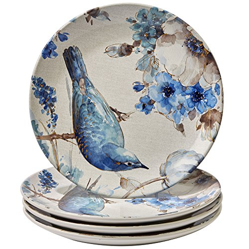 Certified Intl Indigold Bird Dinner Plates (Set of 4), 11...