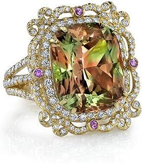 925 Sterling Silver Micro Paved zultanite Alexandrite Changing Color gem fine Jewelry Stylish Ring ShenZhen SutanLai Shoushi Youxian Gongsi