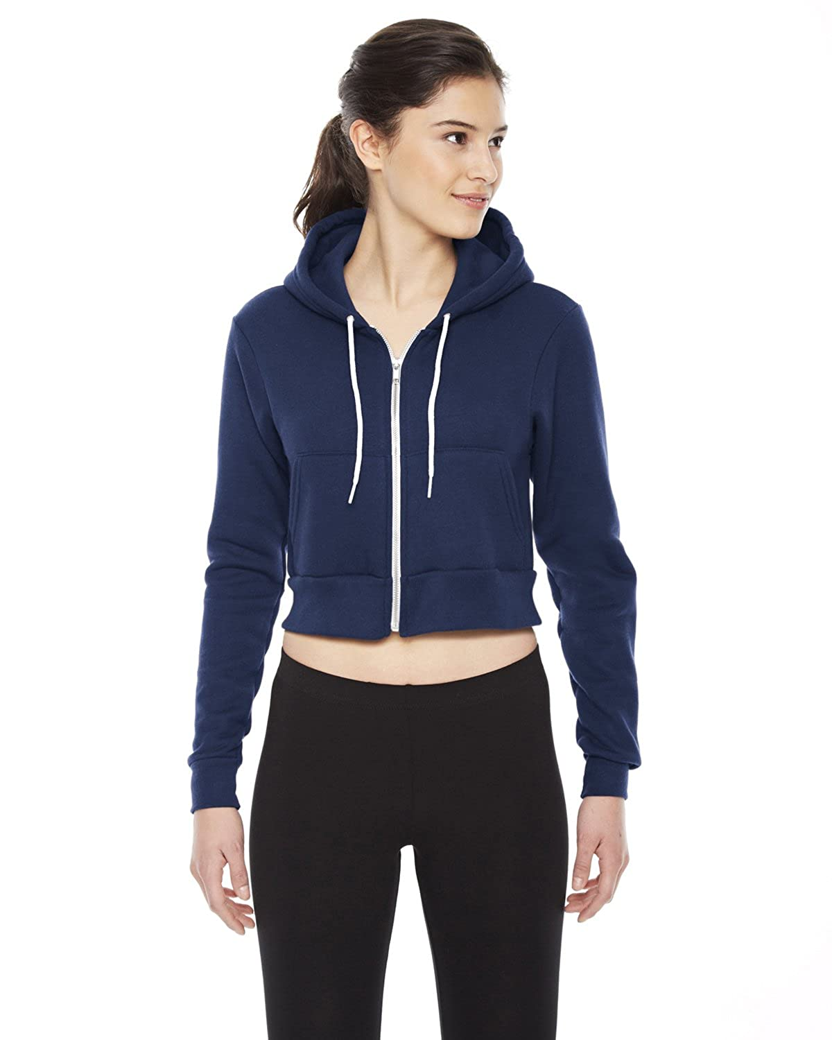 bd1d7c8f3e American Apparel F397 - Ladies Cropped Flex Fleece Zip Hoodie: Amazon.ca:  Clothing & Accessories