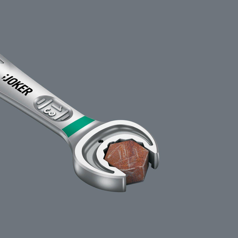 Wera 05020070001 Ratcheting Combination Wrench Joker Reversible 15x199mm White 15 x 199 mm