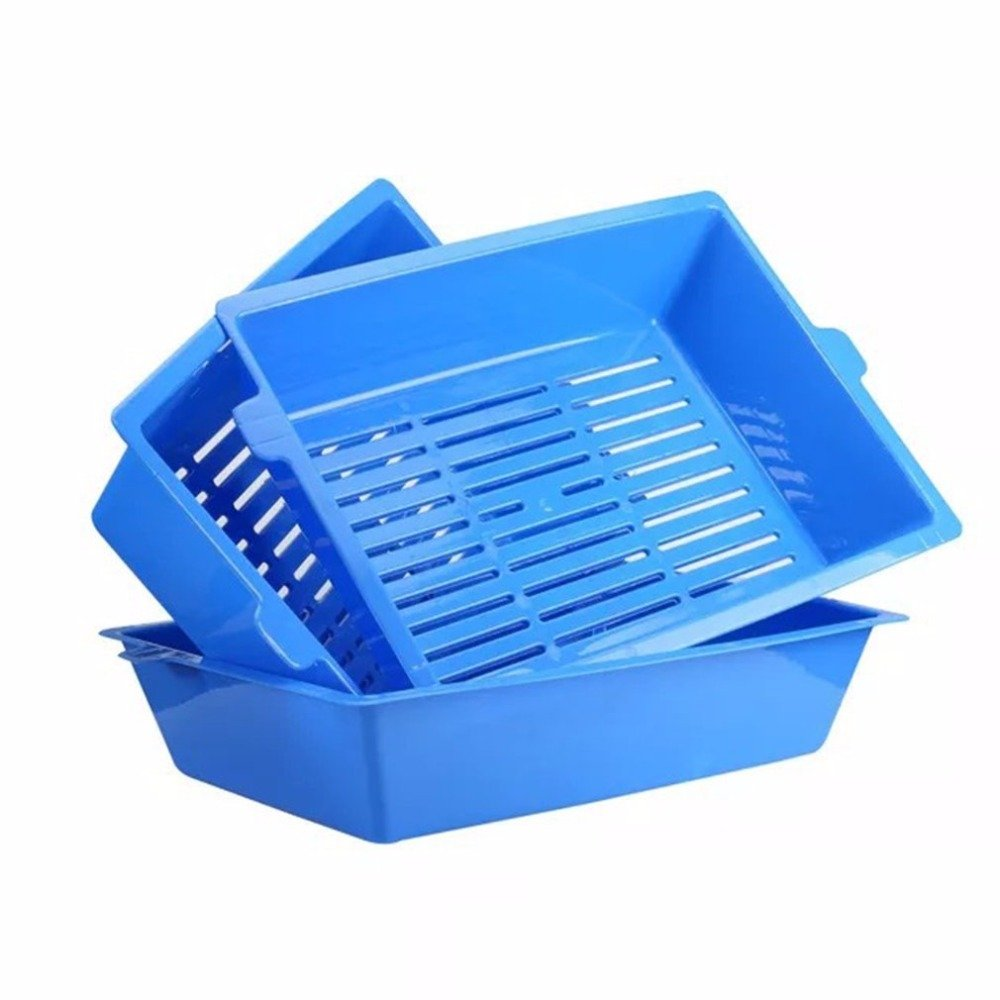 Cat Bedpans Semi Closed Anti-splash Cat Toilet Cat Litter Box Plastic Bedpan Case Pet Supplies 3 Interlocked Trays Easy To Use by LEO_Pet supplies