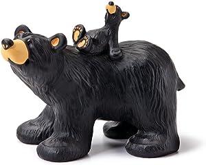 DEMDACO Riding Bearback Black Bear 5 x 6.5 Hand-cast Resin Figurine Sculpture