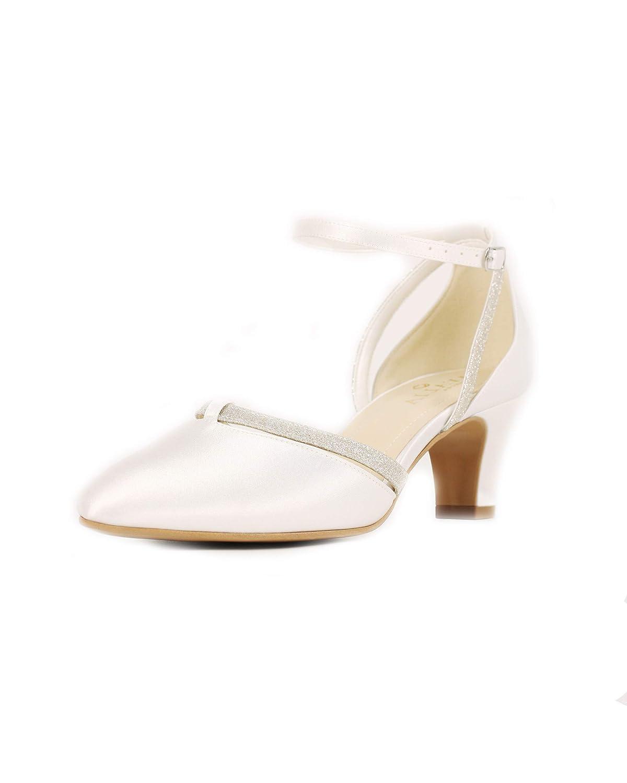 Brautschuhe aus Satin Schuhe Damenschuhe Hochzeit 6 cm Absatz High Heels Pumps