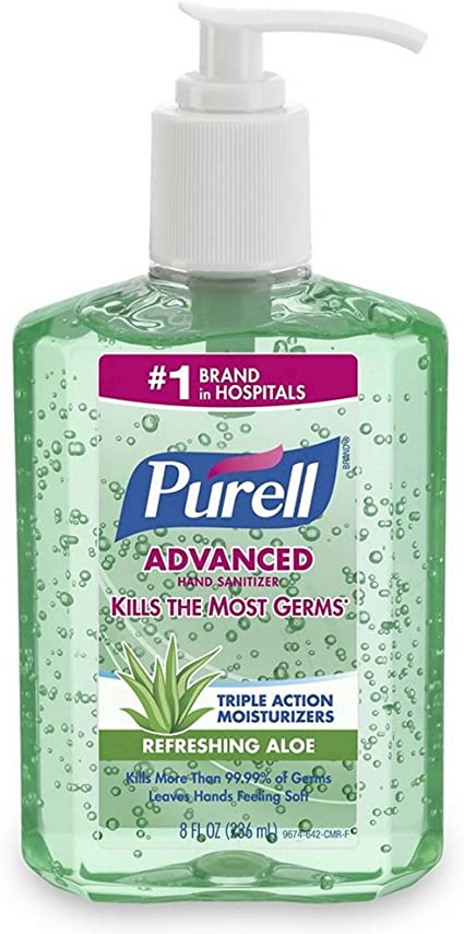 Amazon Com Purell Hand Sanitizer With Aloe 8 Oz Pack Of 2