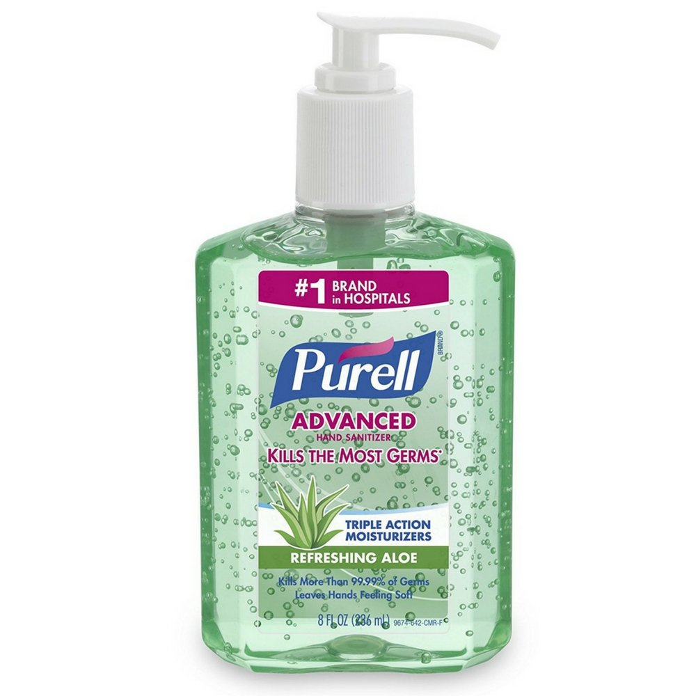Purell Hand Sanitizer with Aloe 8 oz (Pack of 2)