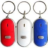 Demarkt 3 Pièces Porte-clé Futé Trouve Clef Siffleur Keyfinder-Gadget pour Têtes en L'air SONORE
