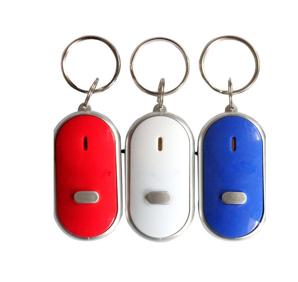 Demarkt 3 Pièces Porte-clé Futé Trouve Clef Siffleur Keyfinder-Gadget pour Têtes en L'air SONORE Couleur aléatoire LY1653//FR2