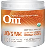 Om Organic Mushroom Nutrition Lion's Mane: Memory, Focus, Nerve Health, 100 servings, 7.14 Ounce, 200 grams