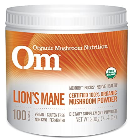 Amazon.com  Om Organic Mushroom Nutrition Lion s Mane  Memory, Focus, Nerve  Health, 100 servings, 7.14 Ounce, 200 grams  Health   Personal Care dda4adaf534