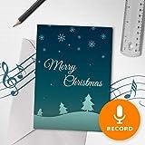 Amazon.com: Tarjeta de Navidad grabable con diseño ...