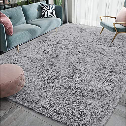 Homore Luxury Fluffy Area Rug Modern Shag Rugs for Bedroom Living Room, Super Soft and Comfy Carpet, Cute Carpets for…