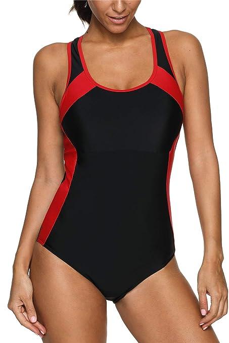60% Rabatt Shop für authentische angemessener Preis CharmLeaks Damen Wettkampf-Badeanzug Racerback Training ...