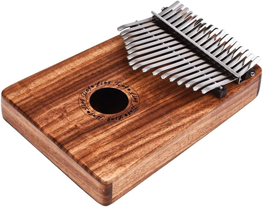 親指ピアノ EQカリンバソリッドウッドビブラート手のピアノの17の鍵トーンローズウッド親指ピアノCチューン8つのアクセサリー (色 : Wood, サイズ : ワンサイズ)
