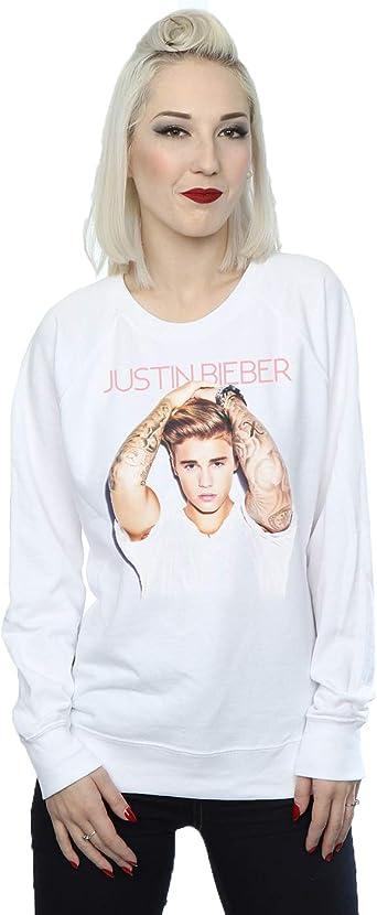 Justin Bieber Mujer Arm Pose Camisa de Entrenamiento: Amazon ...