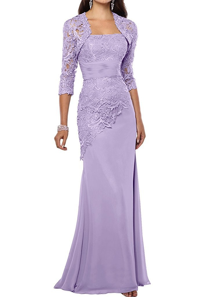 VaniaDress Women Long Mother Of The Bride Dress With Jacket Formal Gowns V263LF Lavender US22W by VaniaDress