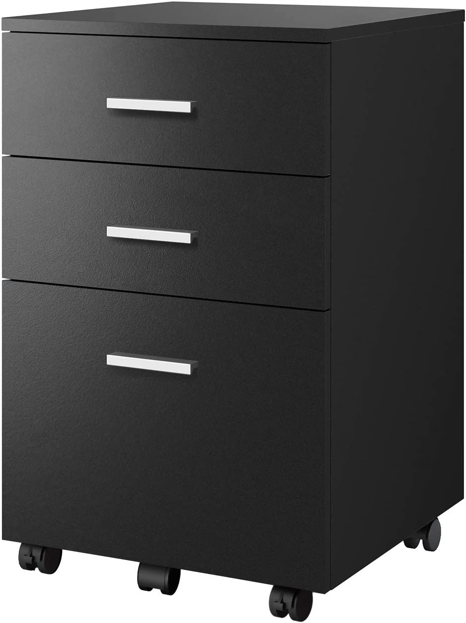 DEVAISE 3-Drawer Vertical File Cabinet, Wood Filing Cabinet for Home Office