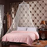 STONCEL Jumbo Mosquito Net for Bed, Queen size, White