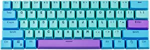 BOYI Shine-Through Keycaps,61 Key ANSI Layout OEM Profile PBT Thick Keycaps for 60% Mechanical Keyboard Keycaps(Color 54)