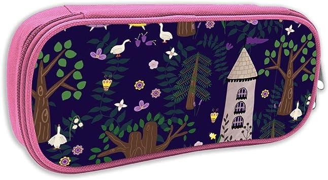 Estuche de lápices Infantil,Las doncellas de Ganso de la Locura Wood_5803, Rosa: Amazon.es: Juguetes y juegos