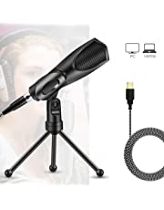 MODAR USB Microphone, Audio Condenser Mic Microphones Desktop for Laptop Computer PC, Perfect for Skype Chattingdeal for Podcasting Home Studio Recording and Gaming Use