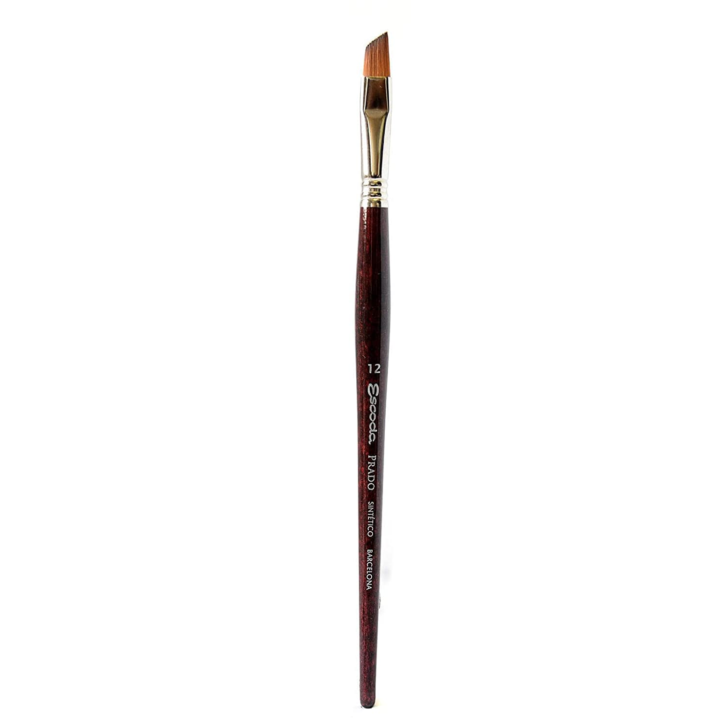 Escoda Prado 1463 Watercolor & Acrylic Tame Synthetic Sable Paint Brush Angled; Size 12 Global Art Materials Inc. ESC-1463-12