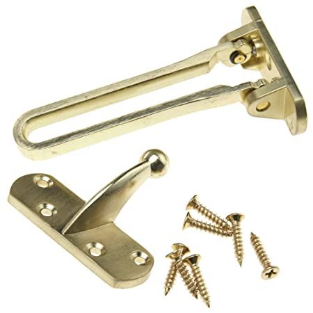 Emma Door Chain Restrictor Lock Gold Tone Limiter Guard Catch Latch Wooden Door  sc 1 st  Amazon UK : door limiter lock - pezcame.com