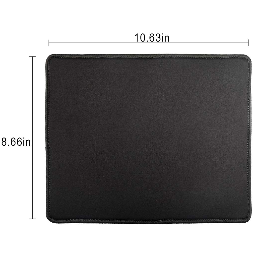 PRENKIN Large Keyboard Mouse Mat Gaming Mouse Pad Rubber Mouse Mat with Locking Edge
