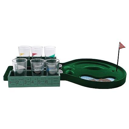 Dovewill Mini Juego De Beber Juego De Golf De Mesa Con Vasos De