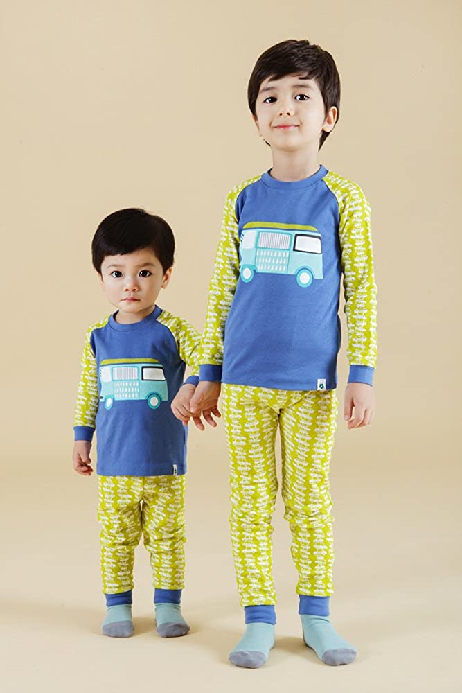 Vaenait Baby 12M-7T Kids Boys Sleepwear Pajama 2pcs Set BZZ Bus