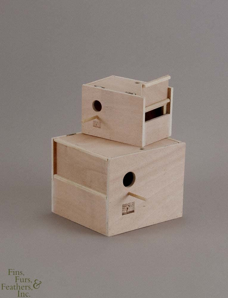 B0002AQ5DY Prevue-Hendryx Parakeet Nest Box Outside Mount (Medium, 8Inch L x 6Inch W x 6Inch H) 61ceCfeaJQL