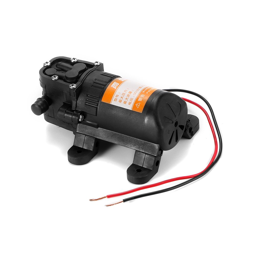 ONEVER Durable DC 12V PSI 3.5L / min Agricultural Water Pump Electric Black Micro High Pressure Membrane Water Sprayer Car Wash 12V -Black