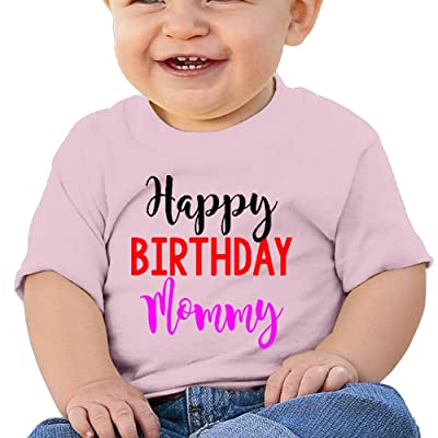 Wuliddf7d8d Baby Happy Birthday Mommy Low Allergy T Shirts