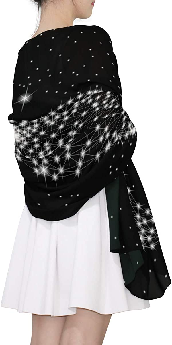 EELa Long Shawl for Women Lightweight Soft Dolphin Printed Wrap Scarf 70x35 inches