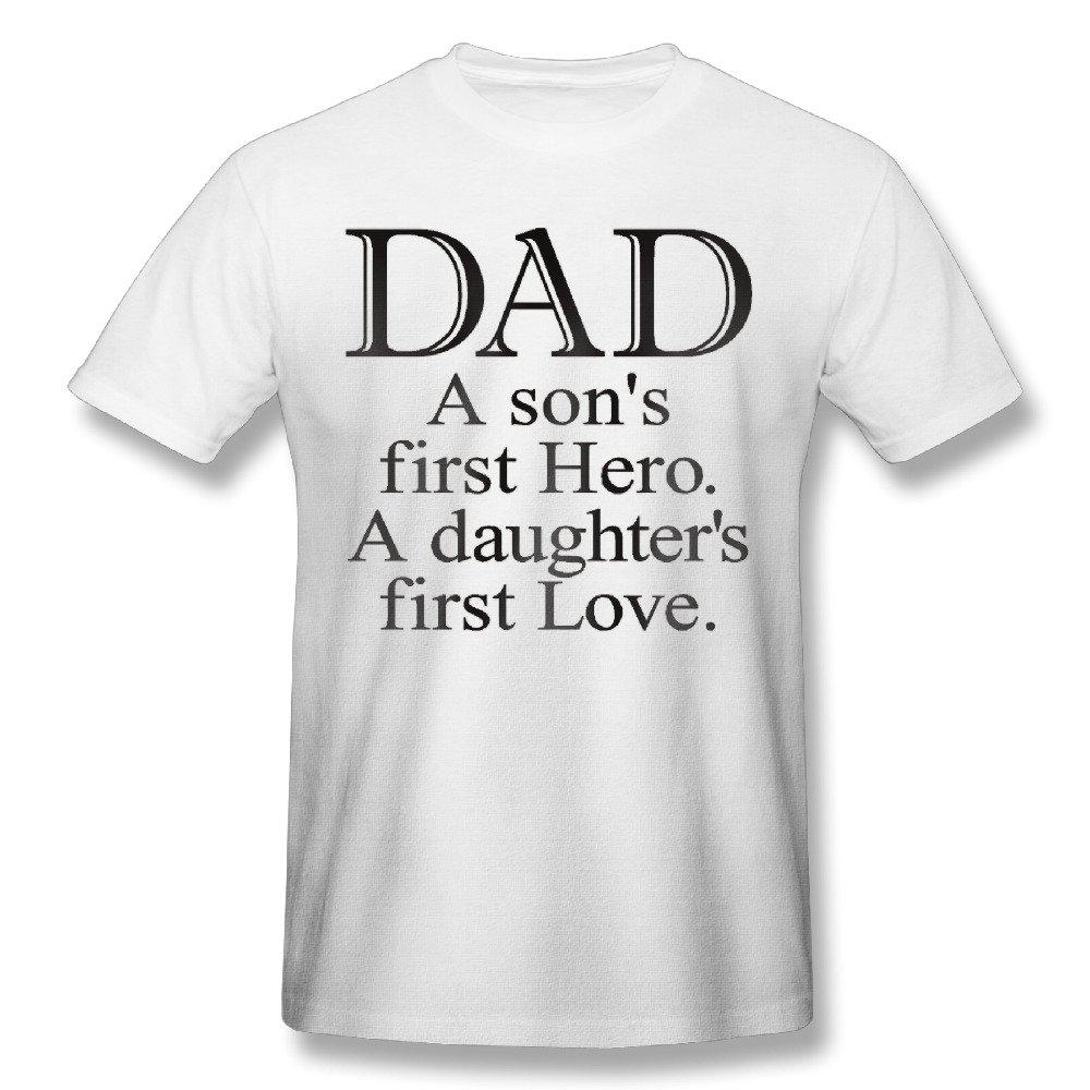 ecd12b4d Amazon.com: Dad Son Hero Daughter Love T-shirt Customized For Man: Clothing
